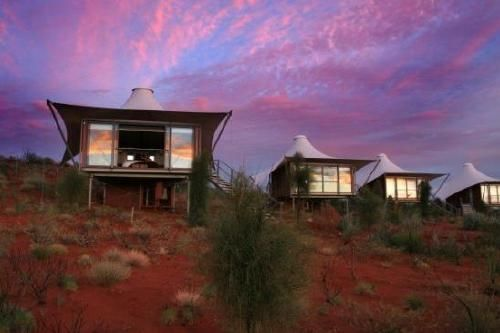 The accommodation at Longtitude 131 is one of the most unique places in Australia to visit.