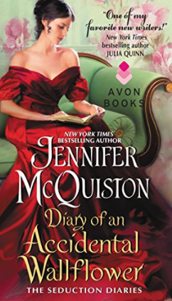 Best vacation books. Diary of an Accidental Wallflower by Jennifer McQuiston.