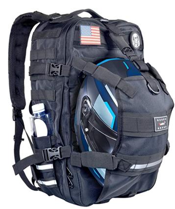 Water resistant motorcycle backpack
